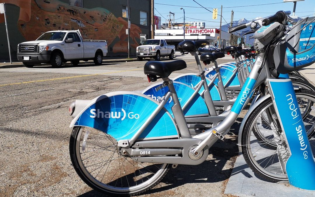 bike to work with Mobi Bikes